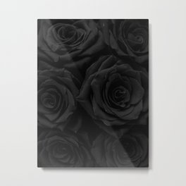 Coal Roses Metal Print