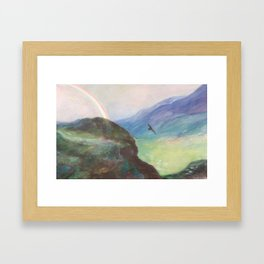 Belle's Journey: Over the Mountains Framed Art Print