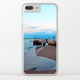 Relics by the Sea Clear iPhone Case