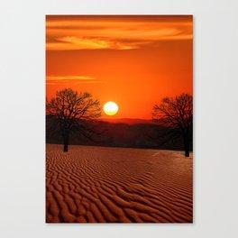 Desert Sunset Landscape Canvas Print