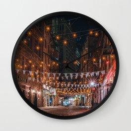 Stone Street in NYC Wall Clock