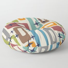 Retro Mid Century Modern Abstract Pattern 224 Floor Pillow
