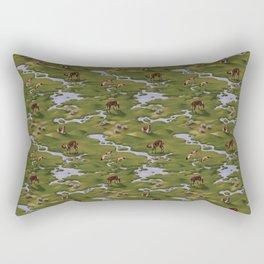 Vicuñas and Flamingoes Rectangular Pillow