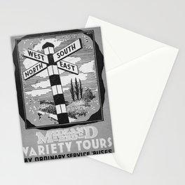 retro monochrome Midland Red Stationery Cards