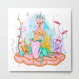 Mermaid Queen Metal Print