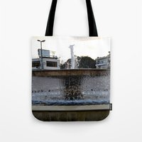 israel Tote Bags featuring Israel Fountain by R. Nicole