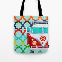 vw Tote Bags featuring VW by Drica Lobo Art