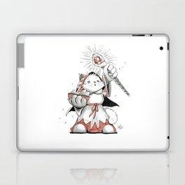 White Mage Munchkin Cat Laptop & iPad Skin