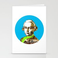 mozart Stationery Cards featuring Mozart Kugel Blue by Marko Köppe