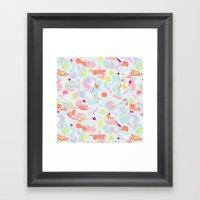 sorbet marble Framed Art Print