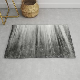 Ghostly forest, black and white Rug