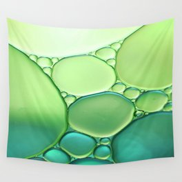 Jade Ombre Bubbles Wall Tapestry