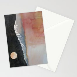 Full Moon Over Mt San Jacinto Stationery Cards