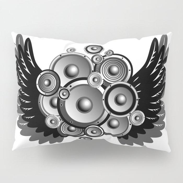 Abstract music illustration Pillow Sham