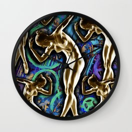 Woman In The Machine Frieze Color 2 Wall Clock