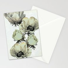 anemone flowers (white background) Stationery Cards