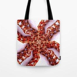 Copper Metal Kaleidoscope Tote Bag