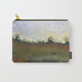 English countryside watercolour and ink landscape painting Carry-All Pouch