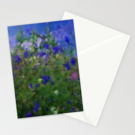 Painted Blue And Green Water Reflection  Stationery Cards