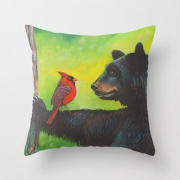 The Negotiation by Robyne Throw Pillow
