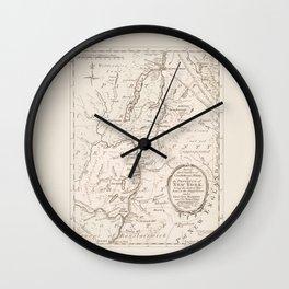 Vintage British Map of Lake George Area Wall Clock