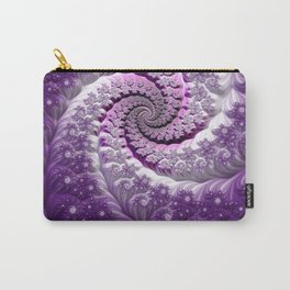 Beautiful Bloom of Lilacs Lavender Fractal Spiral Carry-All Pouch