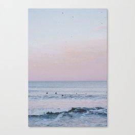Pink Sky Ocean II Canvas Print