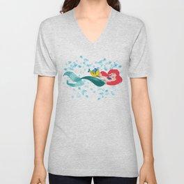 Ariel and Flounder Unisex V-Neck