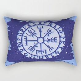 Viking Compass Nordic Symbols Rectangular Pillow