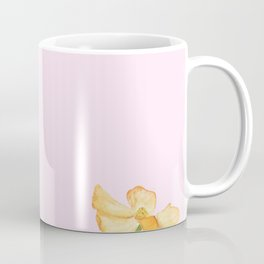 colorful cosmos flwoer in pink background Coffee Mug