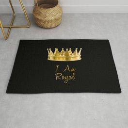 I am Royal in Black Rug