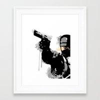 robocop Framed Art Prints featuring RoboCop by Molnár Roland