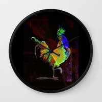 rooster Wall Clocks featuring ROOSTER by mimulux