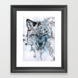 Wolf Dream Framed Art Print