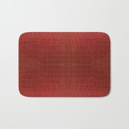 CrocLeather Red Bath Mat