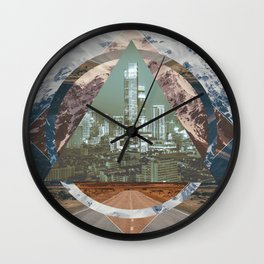 abstract polyscape Wall Clock