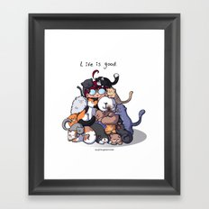 Cat Cave Framed Art Print