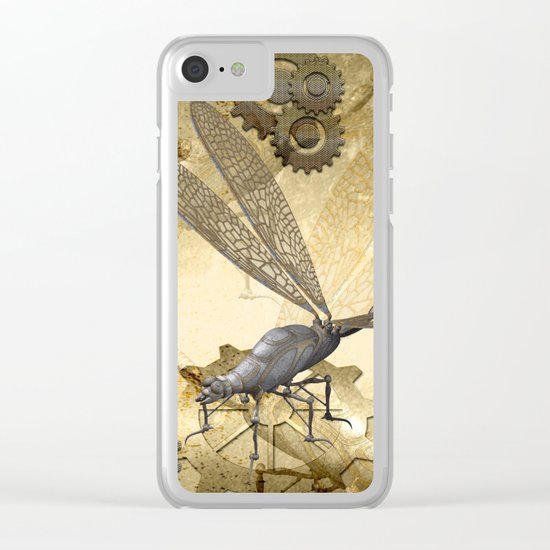 Steampunk, dragonflies Clear iPhone Case