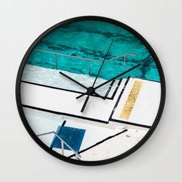Bondi Icebergs Club III Nautical Geometry Wall Clock