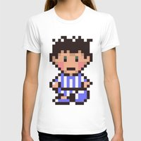 earthbound T-shirts featuring Ness (Pajamas) - Earthbound / Mother 2 by Studio Momo╰༼ ಠ益ಠ ༽