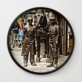 Stable Boys Wall Clock