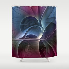 Fractal Mysterious, Colorful Abstract Art Shower Curtain