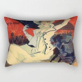 Jardin De Paris F Te De Nuit Bal 1896 By Jules Cheret   Reproduction Art Nouveau Rectangular Pillow