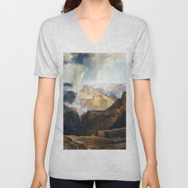 The Chasm Of The Colorado 1874 By Thomas Moran | Scenic Earthy Reproduction Unisex V-Neck