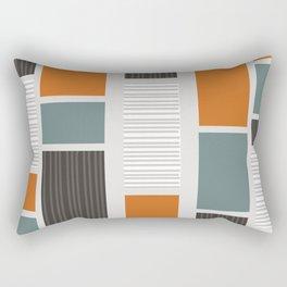 Mid Century Modern Panels Rectangular Pillow