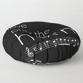 Live, love, play the horn (dark colors) Floor Pillow