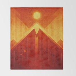Mars - Olympus Mons Throw Blanket