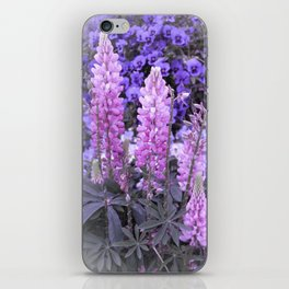 Lively Lupines iPhone Skin