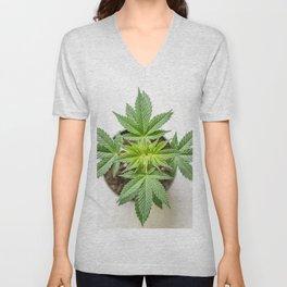 Marijuana Landscape Unisex V-Neck