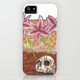From death comes life. iPhone Case